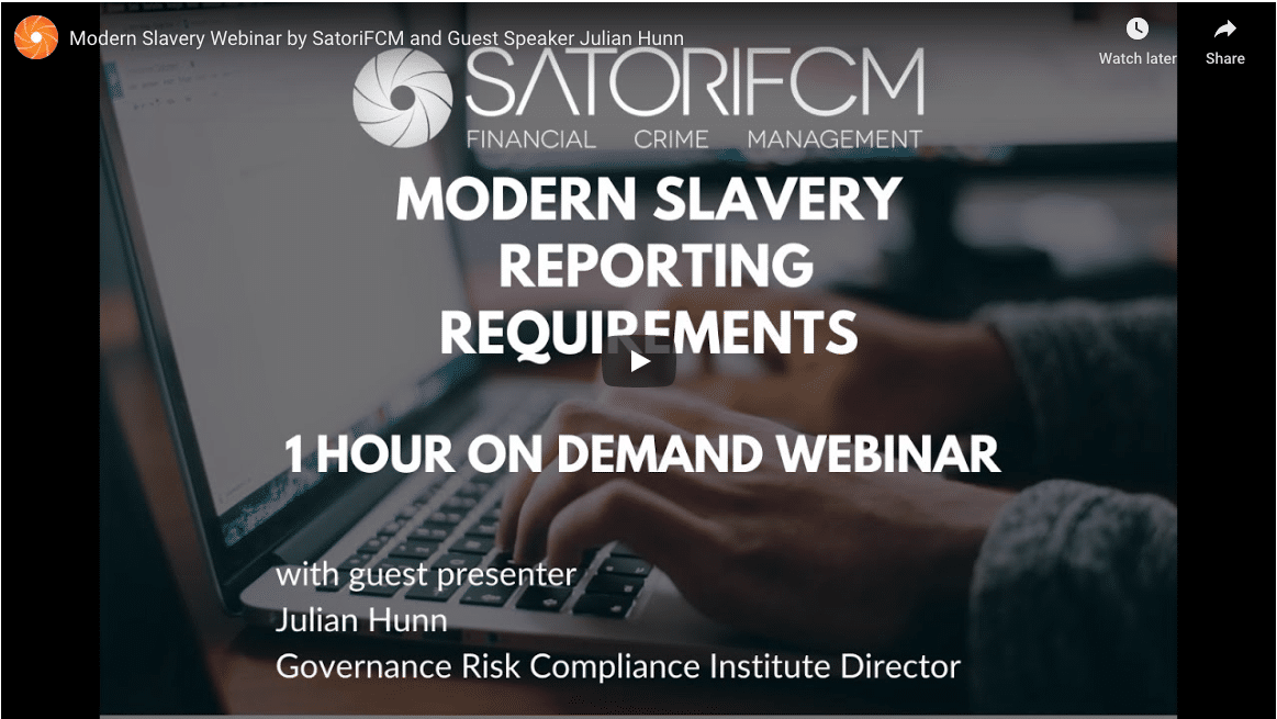 Modern Slavery Webinar Reporting Requirements