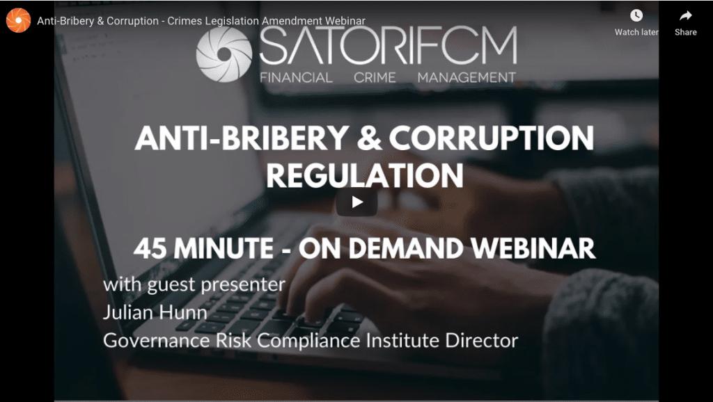 AntiBribery Corruption Webinar
